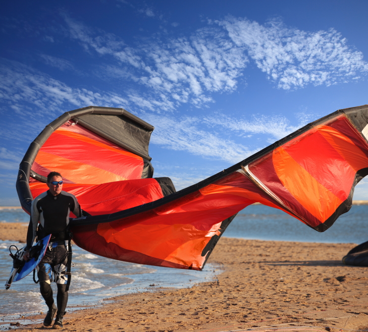 fun and adventure with the kite and board