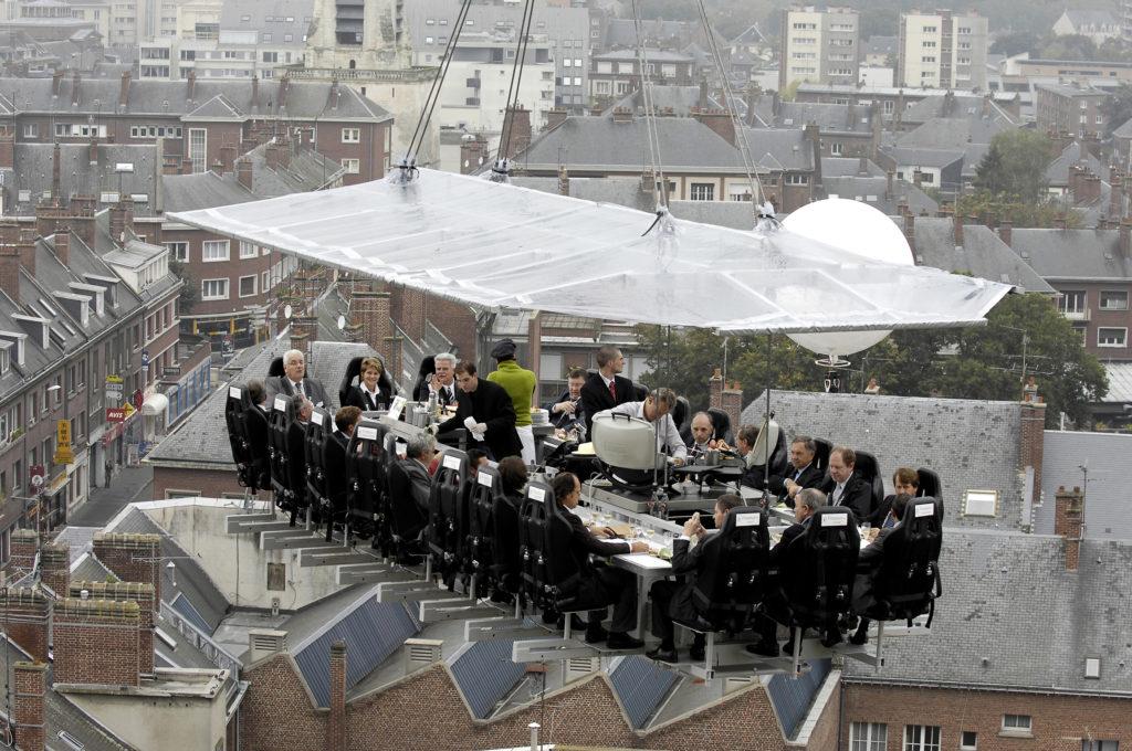 Dinner in the Sky mieste